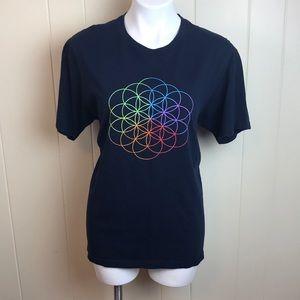 "Tops - 2017 Coldplay ""Head Full of Dreams"" Tour T Shirt"